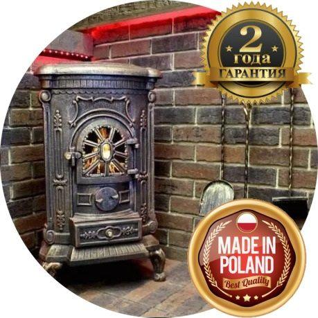 АКЦИЯ! Печь камин буржуйка Bonro 9 КВт чугунная, печка для дома дачи