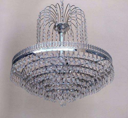 Lustre cristal 3 lâmpadas Séc.XX - conservação impecável