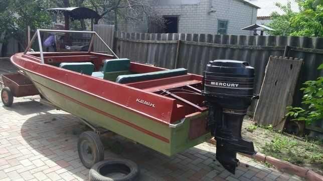 Лодка Крым с документами и мотор Меркури 45