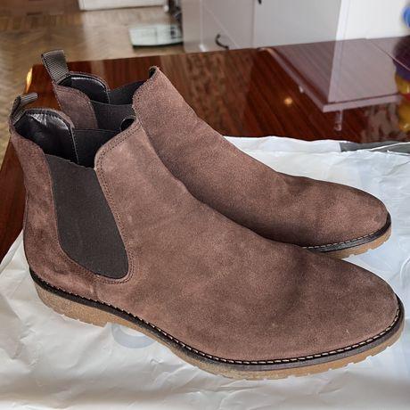 Замшевые ботинки Новые Zara, Зара