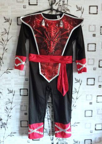 Карнавальный объёмный костюм на мальчика 5-6 лет Дракон
