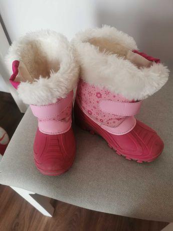 Buty zimowe, śniegowce rozm. 28 dla dziewczynki