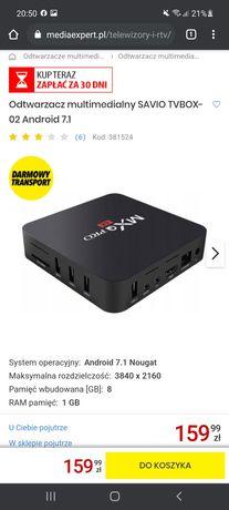 Tv box savio android 7.1 nougat