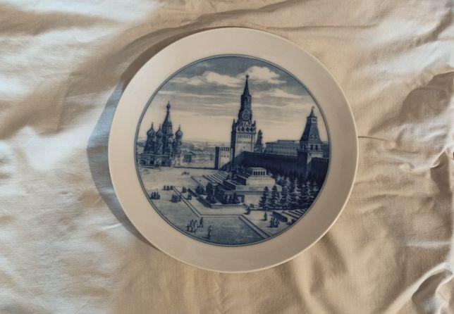 Декоративная настенная тарелка Meissen 1930-1940г фарфор антиквариат