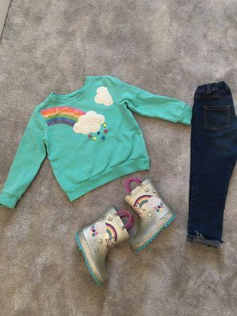Комплект свитер джинсы свитшот Next 2 3 4