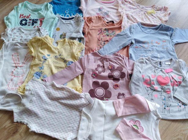 Zestaw ubrań niemowlęcych dla dziewczynki body bluzki