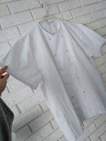 Nowy fartuch fartuszek biały na lato wiosnę lekki zwiewny XXL 2XL