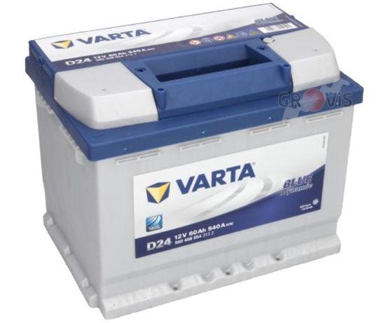 NOWY Akumulator VARTA Blue 12V 60Ah 540A P+ D24 Wymiana Dowóz Montaż