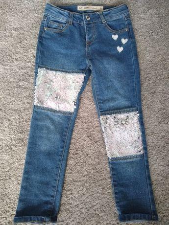 spodnie jeansowe dla dziewczynki rozmiar 110 cm