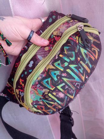 бананка/сумка/поясная сумка ручная роспись