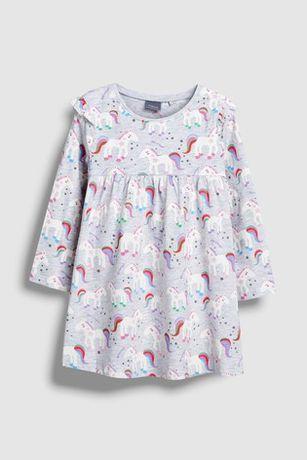 Next cudowna sukieneczka w jednorożce 9-12 m 80cm