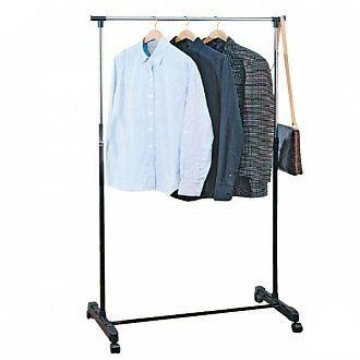Штанга вешалка стойка для одежды напольная в офис прихожую на колесах