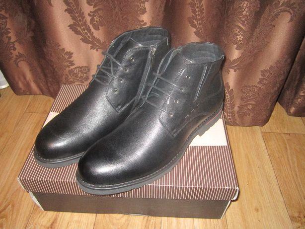 Демисезонные кожаные ботинки Berten новые