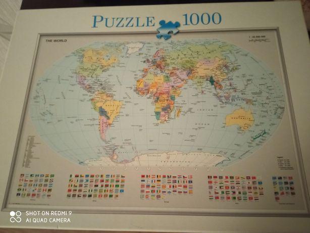 Puzzle 1000 mapa