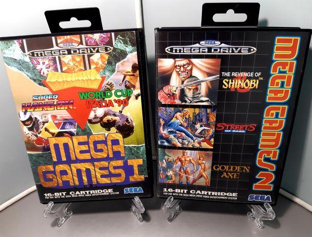 Coleções Mega Games 1 e 2 com jogos para Sega Mega Drive