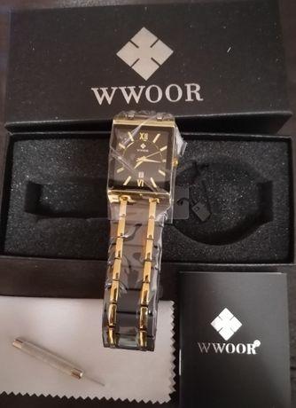 Relógio masculino WWOOR Luxo e Elegância à prova d'água