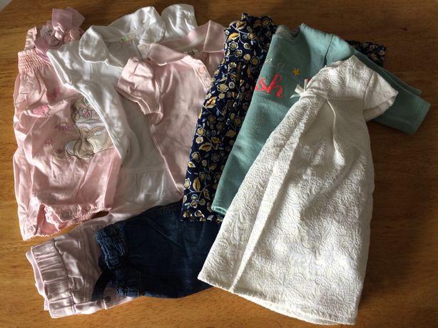 Paka ubran dla dziewczynki 6-9mies 74cm