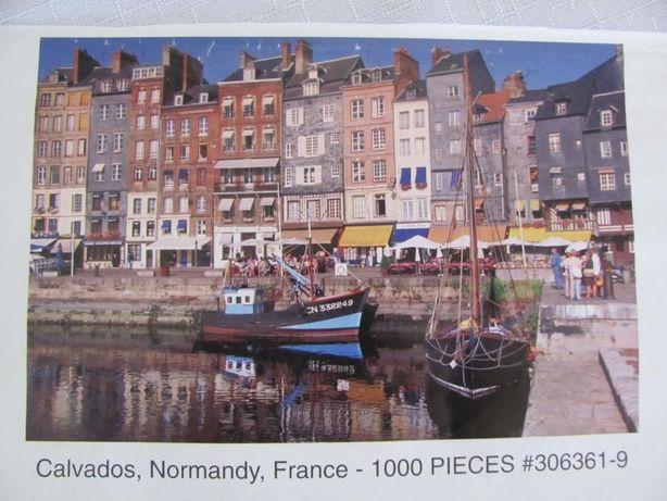 Puzzle Calvados Normandy France 1000el. brak opakowania 1 puzzla