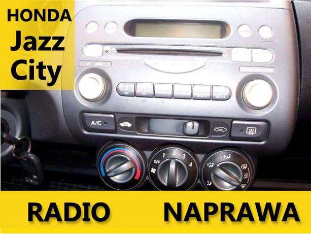 Radio Honda Jazz / City - NAPRAWA radia - EKSPRESOWO! - AUX! - Faktura