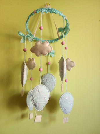 Karuzela - pastelowe balony, girlanda, dekoracja, zabawka, rękodzieło