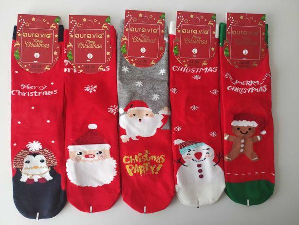 Skarpetki świąteczne 32-35