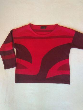 Krótki czerwony sweterek - rozmiar 36