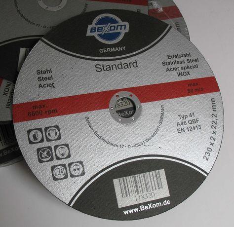 Disco de corte para inox - 230mm x 2mm x 22,2mm Rebarbadora Esquadria
