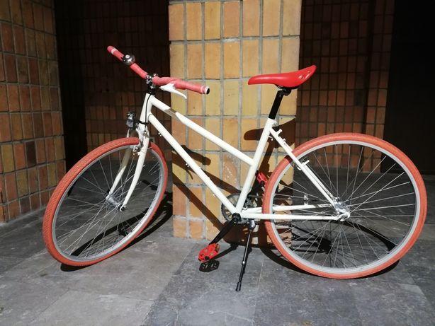 Biało czerwony rower