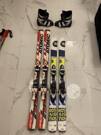 Narty Rossignol, Atomic, Buty