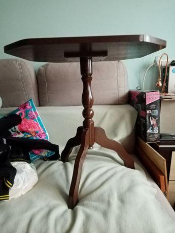 Stolik Drewniany Kolor Wenge  Trój nożny