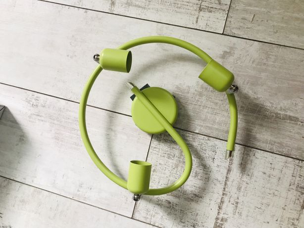 Nowa lampa sufitowa spirala zielona Inspire basic ślimak kinkiet