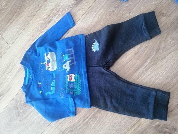 Komplet chłopięcy 68 spodnie bluzka