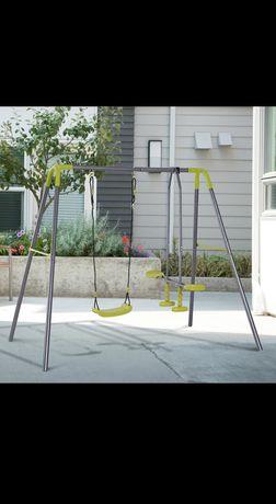 Podwójna huśtawka ogrodowa dla dzieci