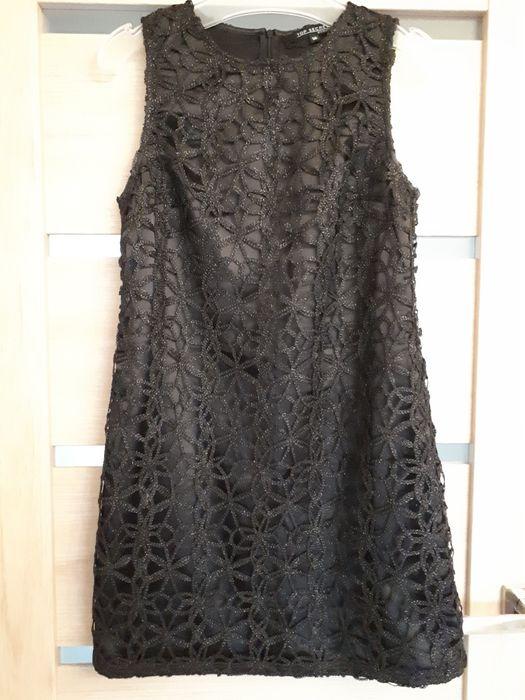 Czarna prosta sukienka Łowicz - image 1