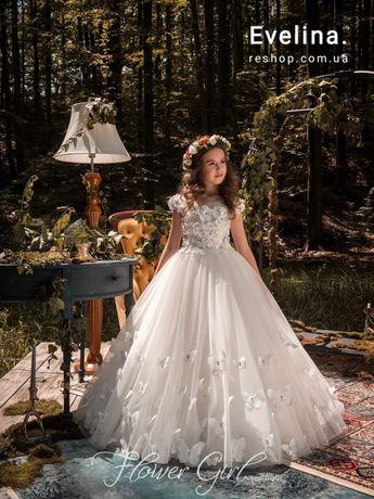 Белое платье для девочки Алиссия, нарядное на причастие, біла сукня