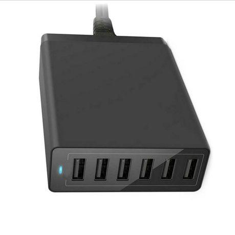 Estação de Carga 50W - 6 Portas USB