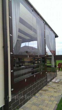 Прозрачные мягкие окна и ПВХ шторы для беседки, террасы, веранды тент