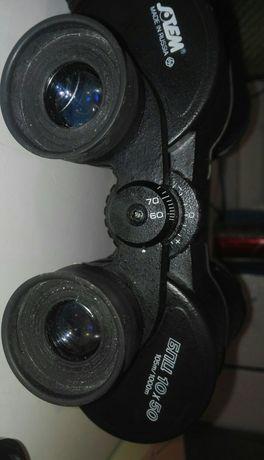 SOTEM 10x50 z org skorzanym futeralem i zaślepkami