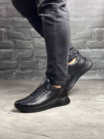 Calvin Klein, мужские кожаные кроссовки натуральная кожа