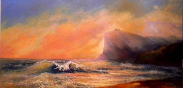 Картина маслом на подарок. Море