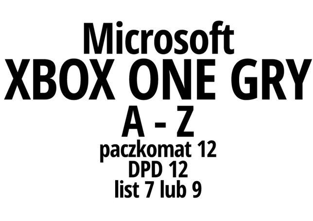 """Gry na konsole """"A-Z"""" Xbox One / XBO - wysyłka lub odbiór"""
