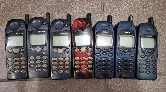 7 sztuk Nokia telefony kultowe: 5110, 6110, 6150