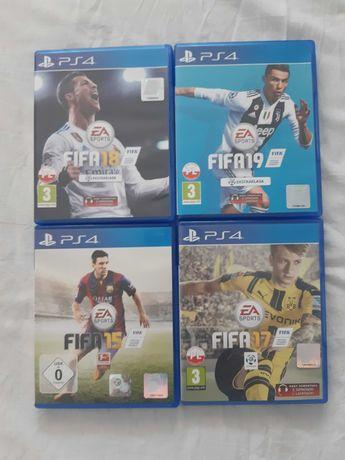 FIFA 15-19 ps4 cztery sztuki