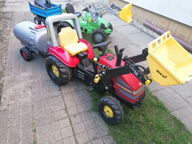 Traktor na pedaly traktorek jeździ rolly toys x-trac z beczka