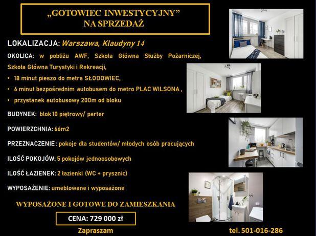 Gotowiec Inwestycyjny 5 pokojów blisko AWF