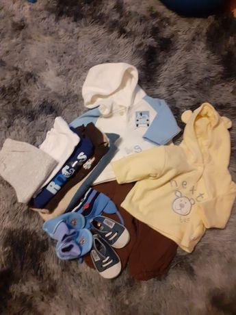 Zestaw spodnie i bluzy, pajac 62 -68
