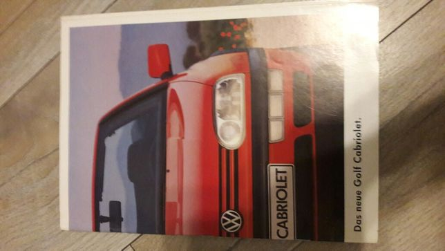 Prospekt VW Cabriolet 3