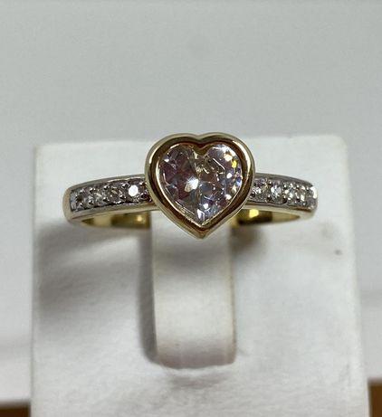 NOWY piękny złoty pierścionek 3,48g / 585 / r. 16