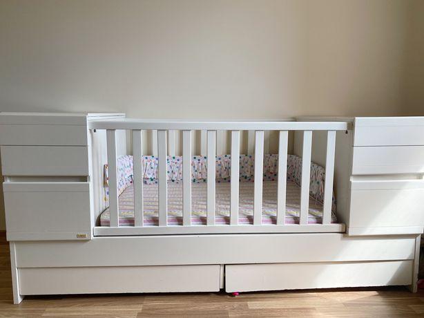 Дитяче ліжечко Mibb з шухлядами і полицями, кроватка, ліжко