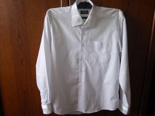 рубашка на мальчика 10-12 лет, белая, школьная